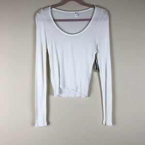 BP White Ribbed Long Sleeve Top Assorted NWT